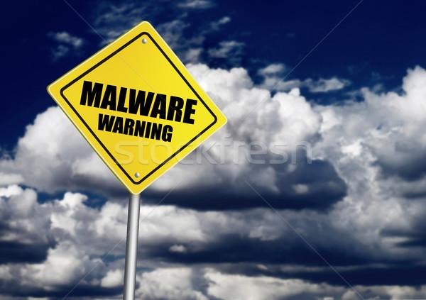 Kötü amaçlı yazılım Internet bulut güvenlik tehlike Stok fotoğraf © goir