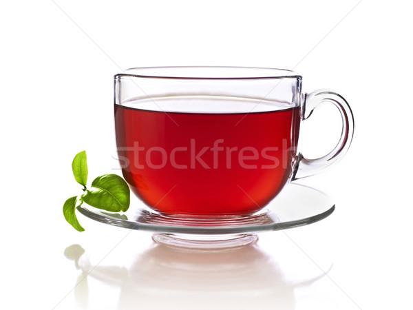 красный Кубок чай изолированный белый Сток-фото © goir