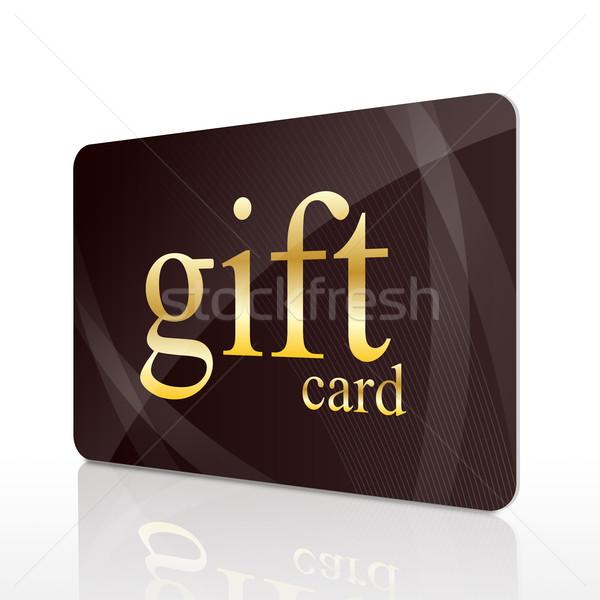 Geschenkkarte isoliert weiß Warenkorb Finanzierung Kreditkarte Stock foto © goir