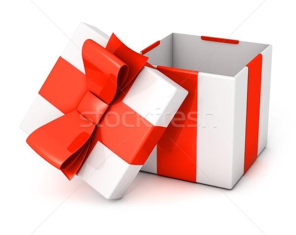Open aanwezig vak geïsoleerd witte verjaardag Stockfoto © goir