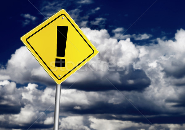 Exclamation point sign Stock photo © goir