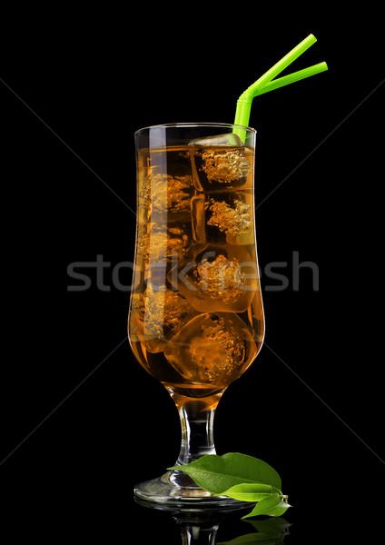 чай со льдом чай лист изолированный черный Сток-фото © goir