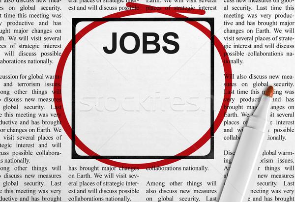 állás hirdetés újság állások főcím copy space Stock fotó © goir
