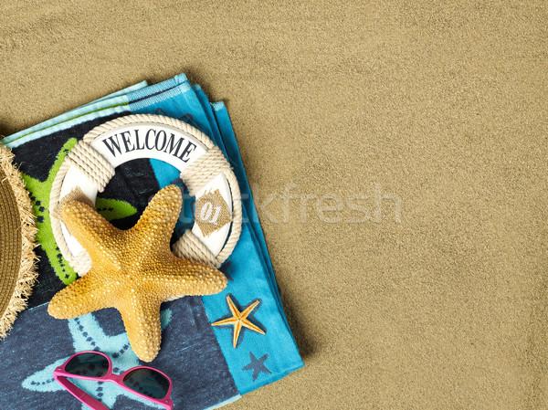 夏 時間 ビーチ コピースペース 砂 ストックフォト © goir