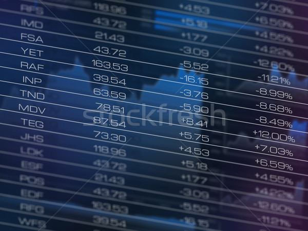 Stock market data table Stock photo © goir