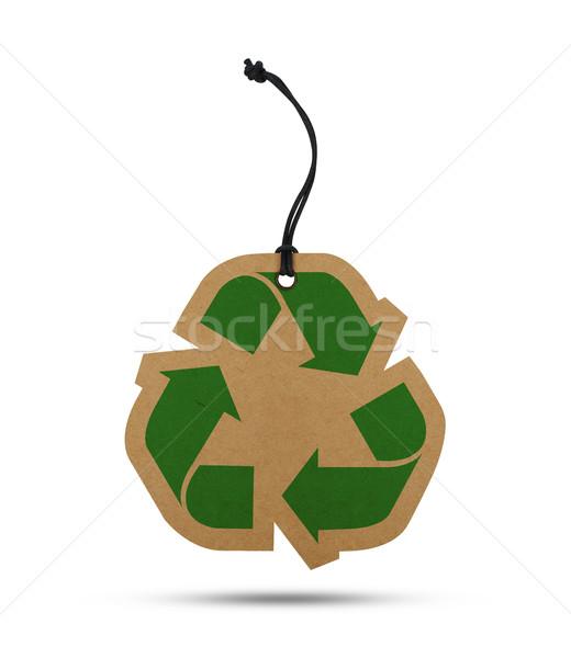 リサイクル タグ 孤立した 白 紙 自然 ストックフォト © goir