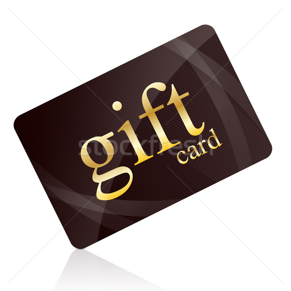 Tarjeta de regalo aislado blanco compras financiar tarjeta de crédito Foto stock © goir