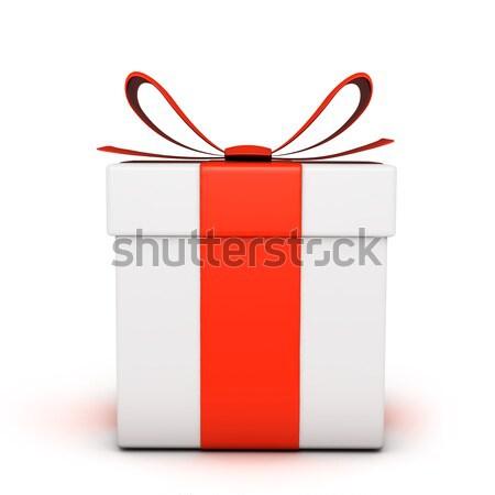 ギフトボックス 孤立した 白 歳の誕生日 赤 パッケージ ストックフォト © goir