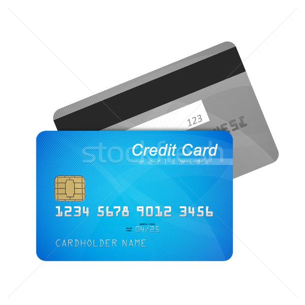 クレジットカード フロント 戻る 孤立した 白 金融 ストックフォト © goir