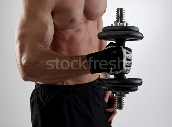Weights lifting Stock photo © goir