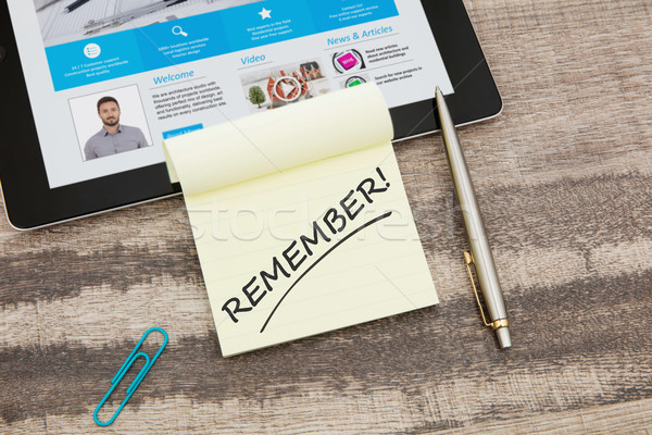 Remember message Stock photo © goir