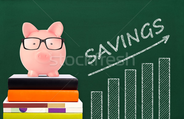 Piggy bank and savings chart Stock photo © goir