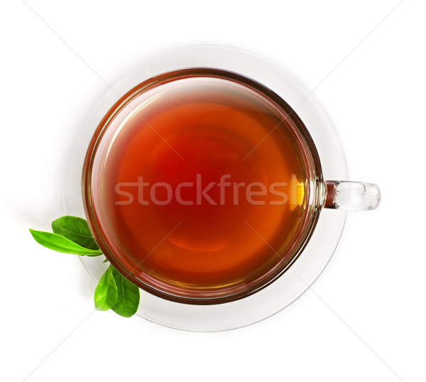 Cup of tea from above Stock photo © goir
