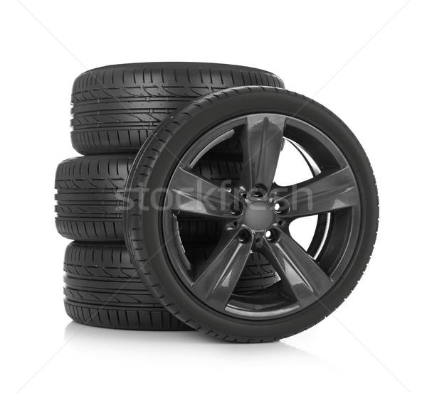 スポーツ タイヤ 車 孤立した 白 金属 ストックフォト © goir