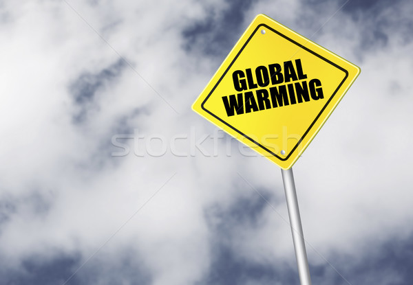 Global warming sign Stock photo © goir