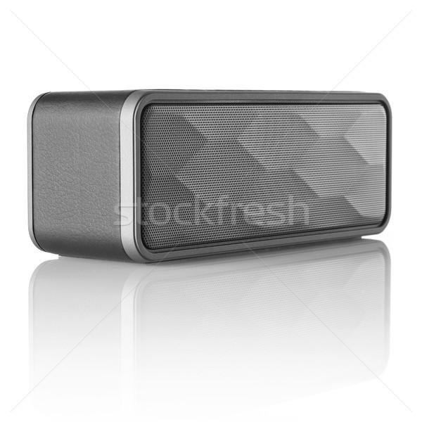 Drótnélküli hangszóró izolált fehér zene sztereó Stock fotó © goir