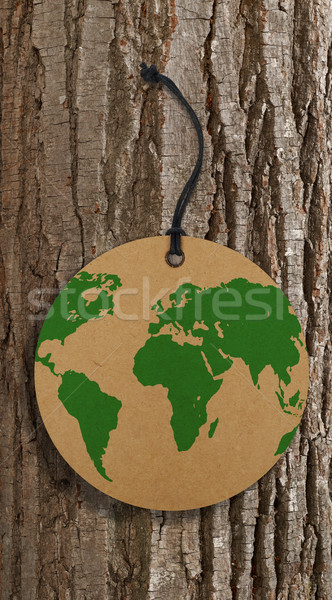 World map on label Stock photo © goir