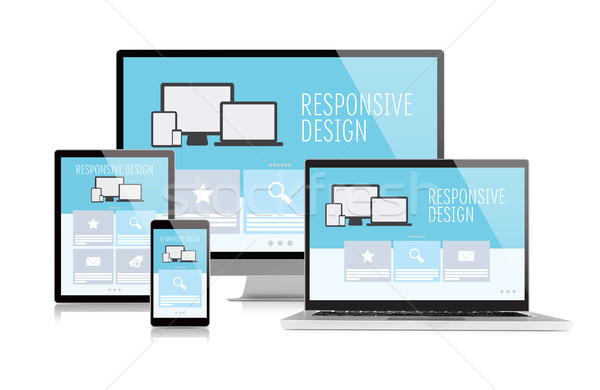 Responsive design on devices Stock photo © goir
