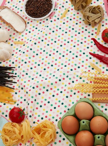 料理 材料 パスタ コピースペース 食品 葉 ストックフォト © goir