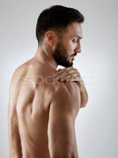 Dor no ombro esportes dor atleta terapia Foto stock © goir