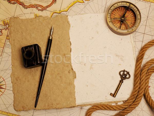 Vintage blank notebook Stock photo © goir