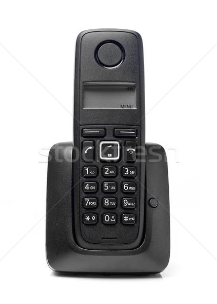 Drótnélküli telefon izolált fehér technológia szolgáltatás Stock fotó © goir