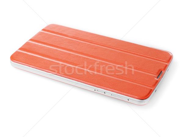 Digitális tabletta tok narancs fehér védelem Stock fotó © goir