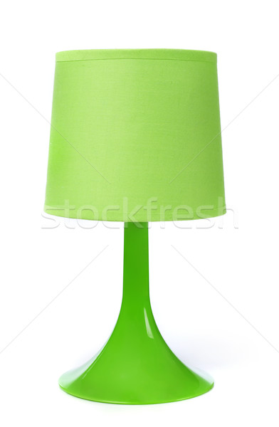 Lampe vert blanche meubles modernes nouvelle Photo stock © goir