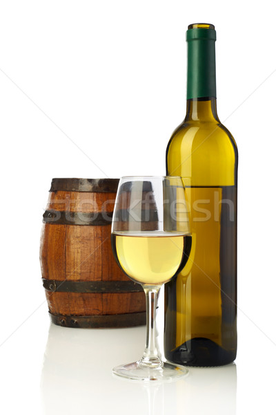 Vinho barril isolado branco beber close-up Foto stock © goir