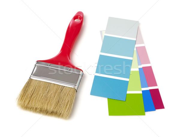 Pędzlem kolor wykres odizolowany biały farby Zdjęcia stock © goir