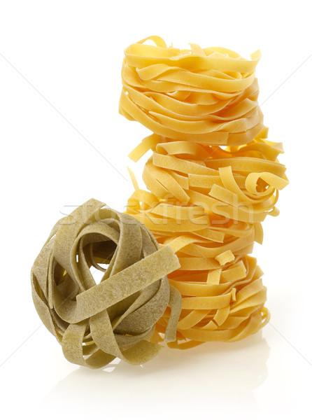 Photo stock: Pâtes · isolé · blanche · alimentaire · fond · blanc · ingrédient