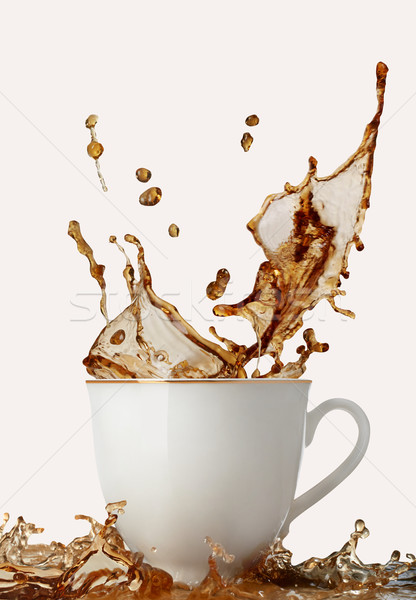 Café Splash tasse de café boire chute mouvement Photo stock © goir
