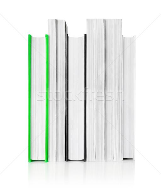 Livros branco educação isolado conjunto Foto stock © goir