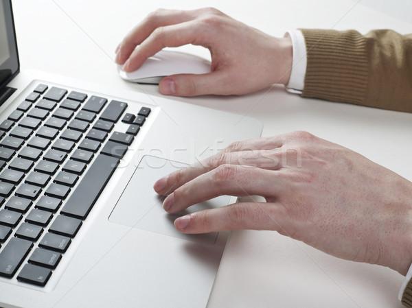 Working on laptop Stock photo © goir