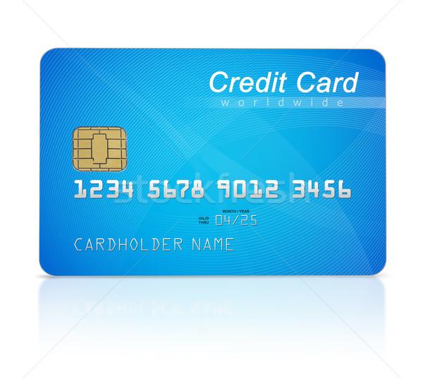 クレジットカード 孤立した 白 金融 データ プラスチック ストックフォト © goir