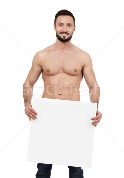 Półnagi człowiek biały ciało siłowni Zdjęcia stock © goir