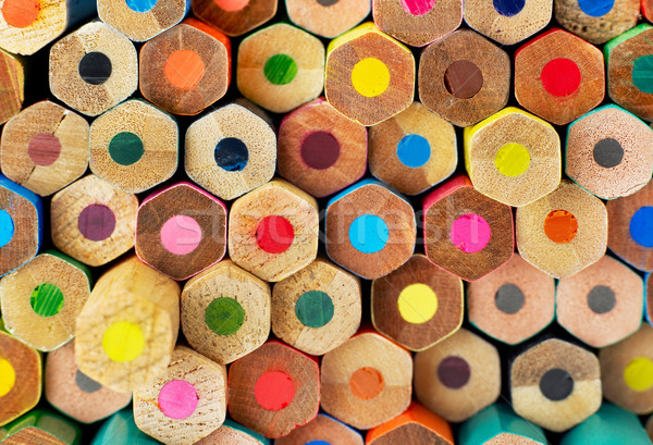 Photo stock: Crayons · blanche · bois · crayon · éducation