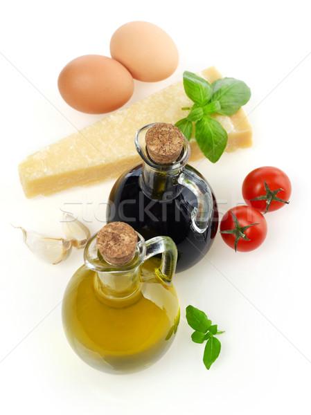 Ingredientes isolado branco tomates vegetal Foto stock © goir