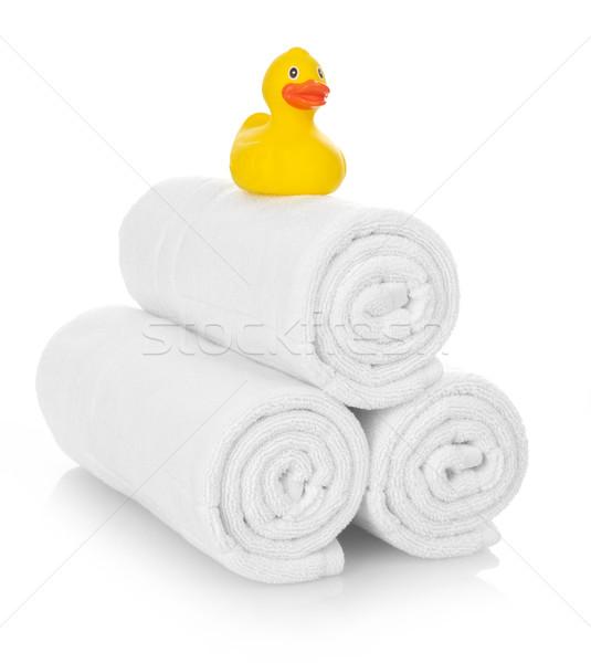 Photo stock: Caoutchouc · canard · blanche · serviettes · isolé · hôpital