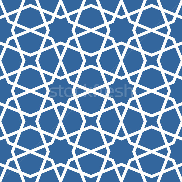 Seamless ethnic grating ornament - starry arabian pattern  Stock photo © gomixer