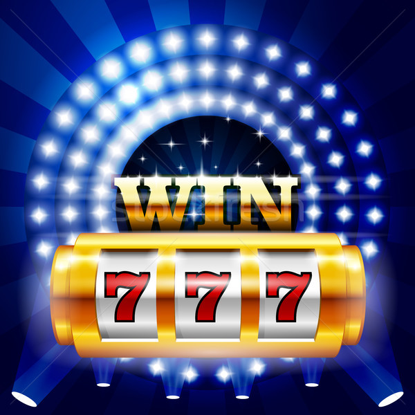 Jackpot - 777 on casino slot machine, big win and gambling conce Stock photo © gomixer
