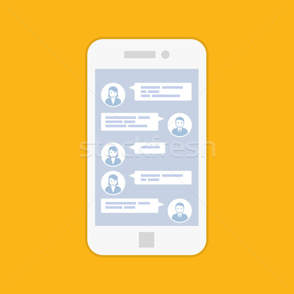 Smartphone chat interface kort sms boodschapper Stockfoto © gomixer