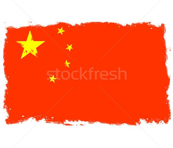 Threadbare flag of China Stock photo © gomixer