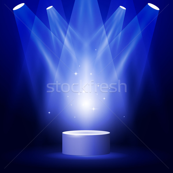 Stage or podium in spotlight rays - blank award pedestal  Stock photo © gomixer