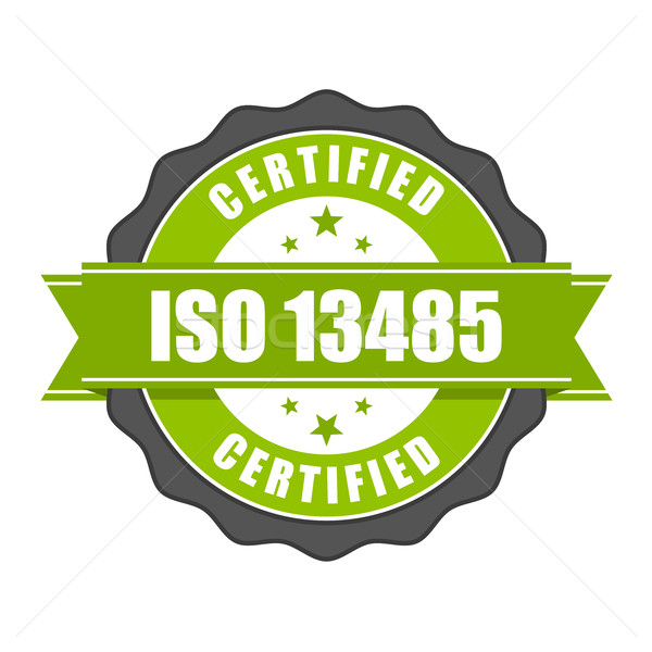 ISO 13485 standard certificate badge - medical devices Stock photo © gomixer
