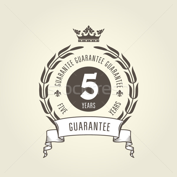 Five years warranty seal -  chic guarantee emblem Stock photo © gomixer