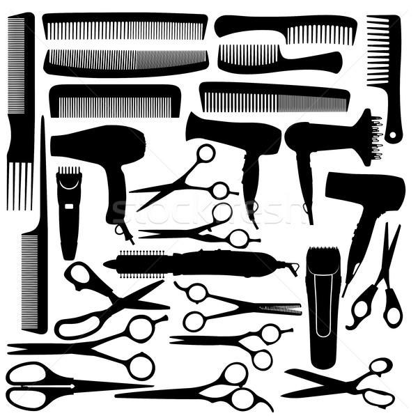 парикмахера салона оборудование фен ножницы Сток-фото © gomixer