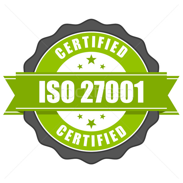 ISO 27001 standard certificate badge - Information security mana Stock photo © gomixer