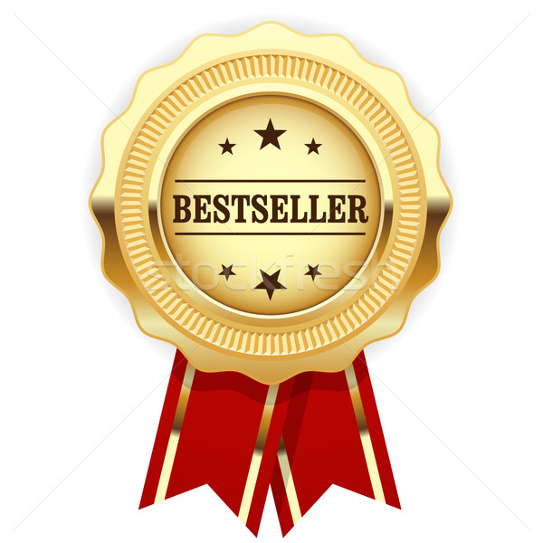 Golden medal Bestseller with red ribbon  Stock photo © gomixer