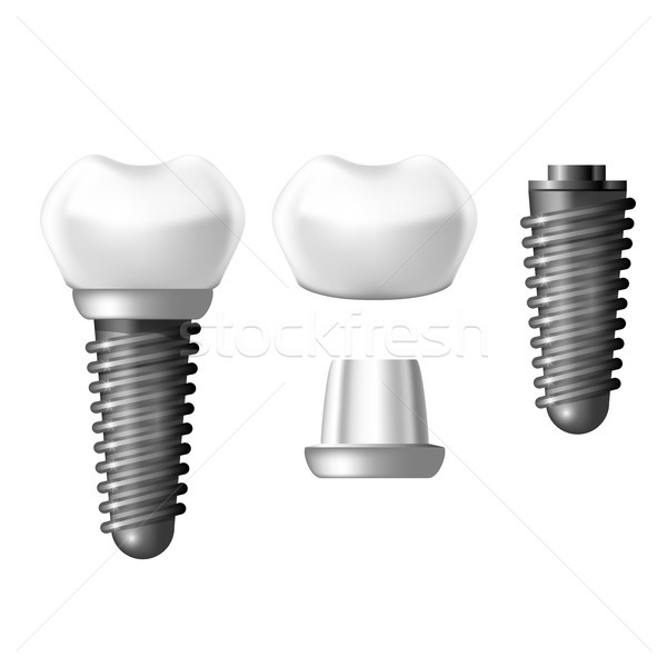 Component parts of dental implant - teeth denture Stock photo © gomixer